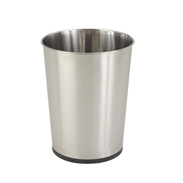 Stainless Bath 5l Waste Trash Can Bin Open Top Bathroom Wastebasket Garbage
