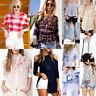 Fashion T-shirt Manica Lunga Donna Maglietta Signore Camicetta Camicia Casual