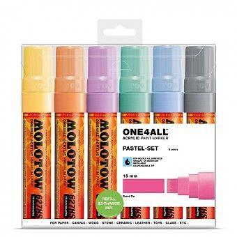 Molotov one4all 627hs marker 6er pastel-set
