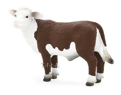FREE SHIPPING | Mojo Fun 387083 Hereford Calf Peering Farm Toy - New in Package
