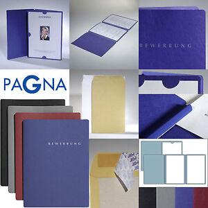 Umschläge 30 schwarze Bewerbungsmappen PAGNA Select  3-teilig mit Klemmschiene