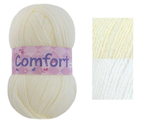 King Cole Comfort 3 Ply Yarn Super Soft Acrylic /& Nylon Knitting Wool 100g Ball