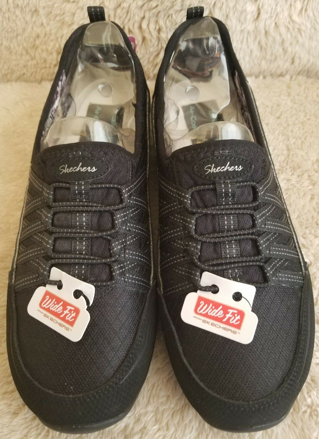 Skechers nero Wide Fit Air Cooled Cooled Cooled Memory Foam Dimensione 7 aa949e