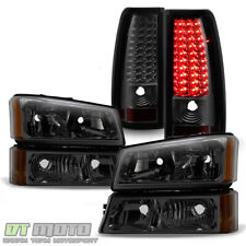 Smoke 2003 2006 Chevy Silverado 1500 2500 3500 Headlightsled Tail Lights Lamps Fits 2005 Chevrolet Silverado 2500 Hd Ls
