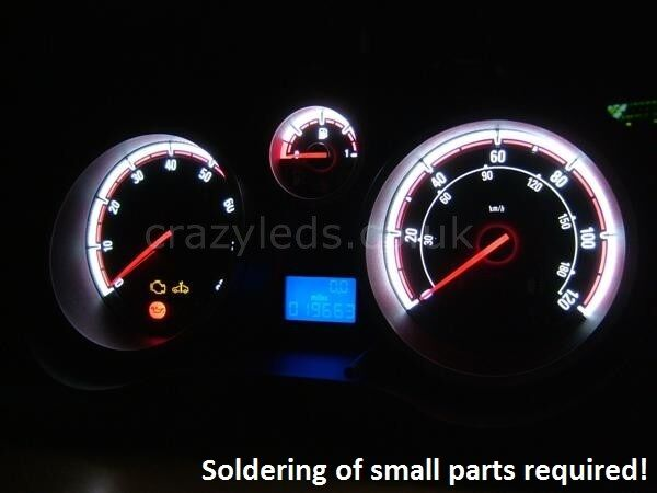 Corsa D SMD LED Speedometer conversion kit