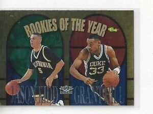 Details About Rare 1995 Classic Assets Gold Jason Kidd Grant Hill Rookie Of The Year Nno