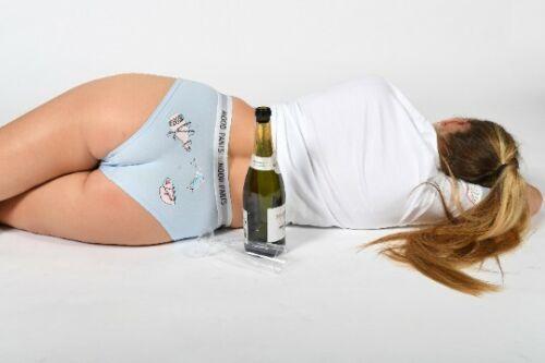 Stato d/'animo Pantaloni Sbornia Pantaloni Taglia 16-18 FUNNY Ladies Underwear Panties NOVITA /'REGALO