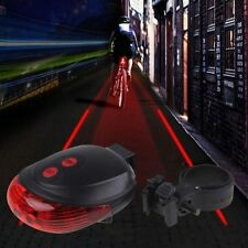 Fahrrad 5 Rot LED 2 Laser Rücklicht Sicherheit Licht Rücklampe  Beleuchtung Hot