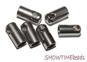 Edelstahl-Endkappe-8x4mm-10-Stueck-silber
