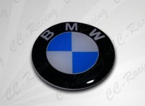 1 Adesivo Resinato Sticker 3D BMW 55 mm BLU BIANCO