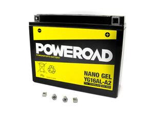 Batterie-GEL-Poweroad-YB16AL-A2-fuer-Ducati-748-ST-SS-Monster-Yamaha-VMX-XV-VMAX