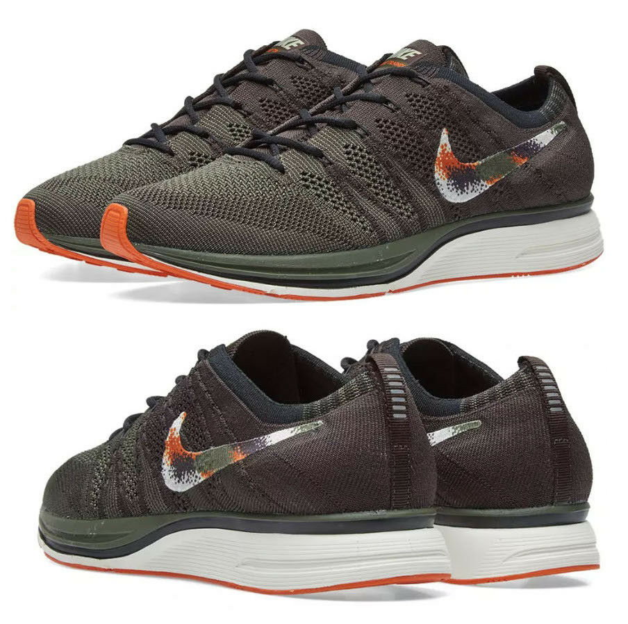 New NIKE Flyknit Trainer Sneaker Mens brown green orange all sizes