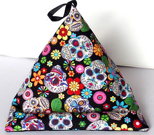 SKULL FLOWER Lap Rest Pillow Holder stand cushion Kindle book Phone iPad Tablet