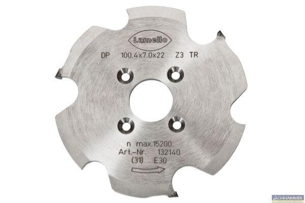 Lamello P-System-Nutfräser DP Diamant für Zeta 100,4x7x22mm für Clamex P 132140