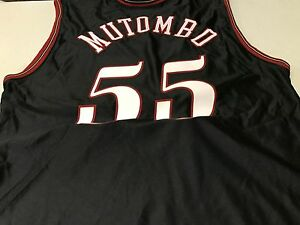 08327fa54 Fan Apparel   Souvenirs NWT MEN S DIKEMBE MUTOMBO  55 RETRO PHILADELPHIA  76ERS BLACK AUTHENTIC JERSEY