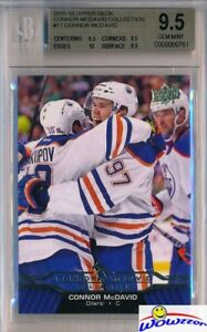 2015-2016-UD-Connor-McDavid-Collection-17-ROOKIE-BGS-9-5-GEM-MINT-Oilers