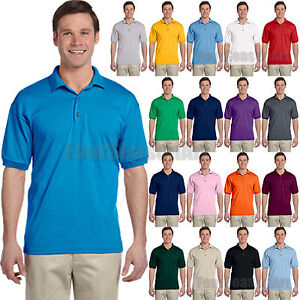 Gildan DryBlend Mens Polo Sport Shirt Jersey T-Shirt All Colors Size S-5XL- 8800