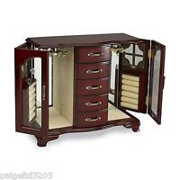 Jaclyn Smith Women's Wooden Double Door 5-drawer Jewelry Chest /box - Cherry