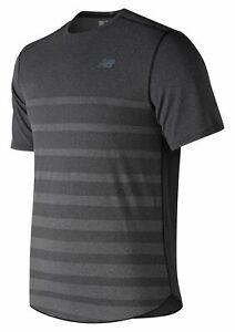 New-Balance-Men-039-s-Q-Speed-Jacquard-Short-Sleeve-Grey