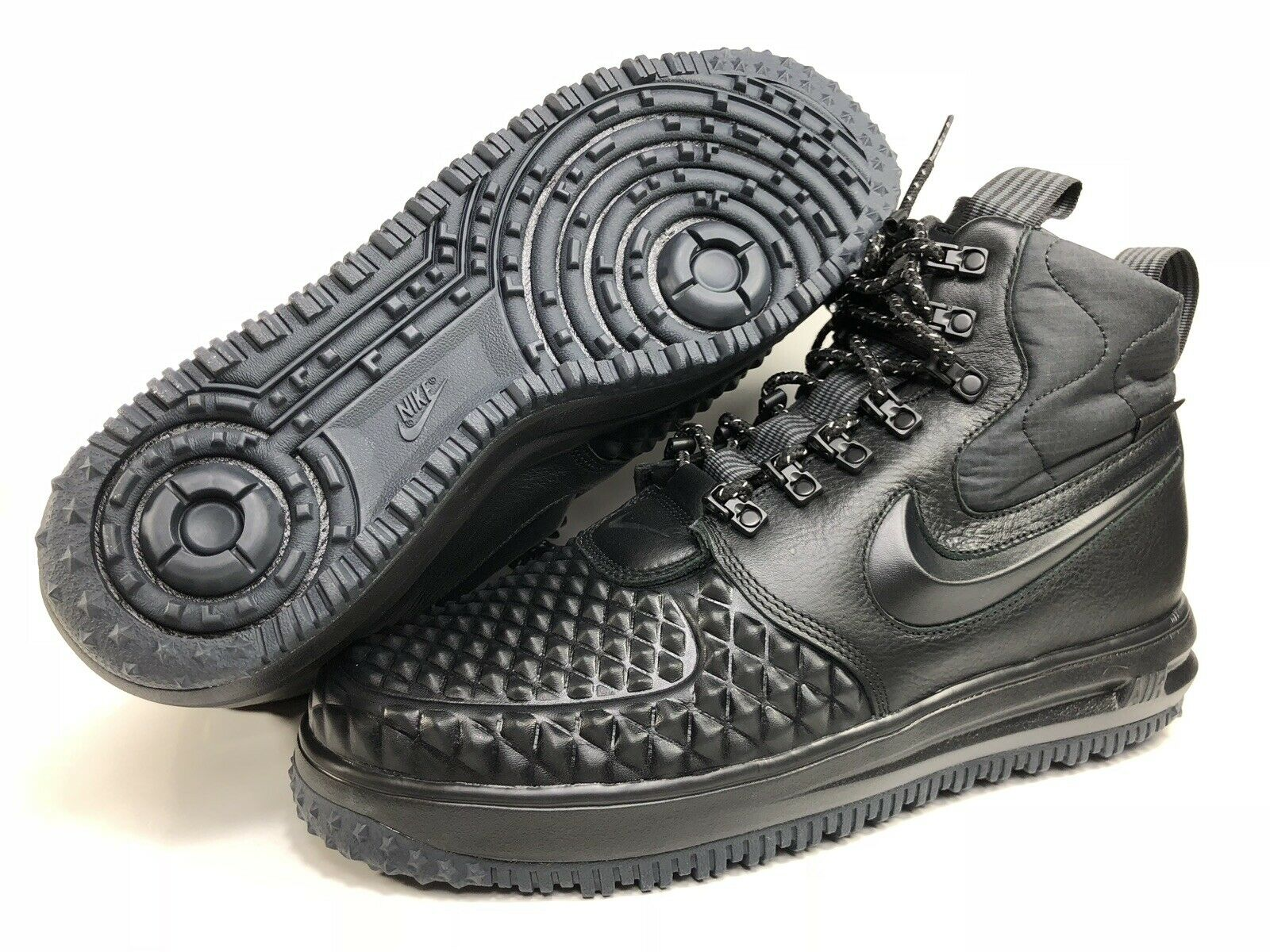 Nike Lunar Air Force 1 Mens Duckboot '17 Triple Black 916682 002 Size 10.5