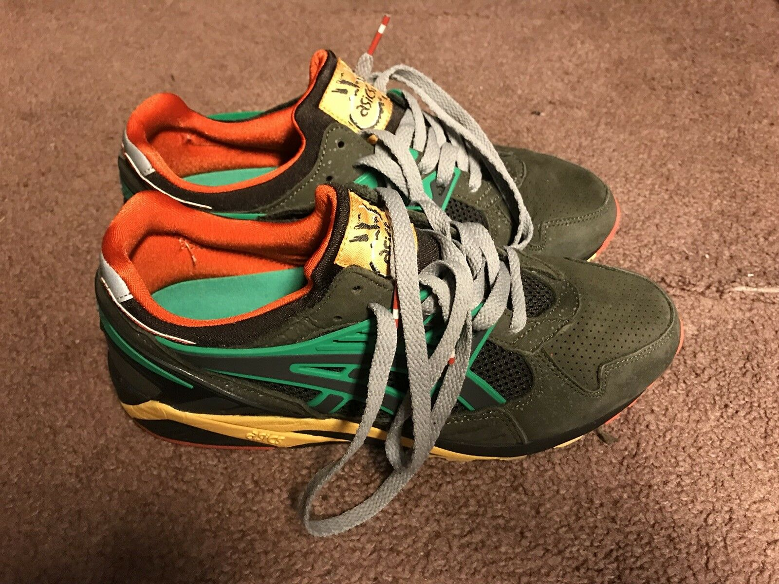 """Asics Gel Kayano x Packer shoes """"All Roads Lead To Teaneck"""" H44KK-9191 Size 8"""