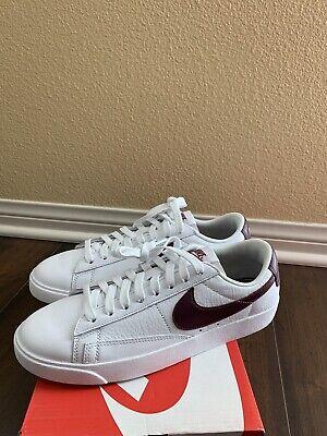desconocido lechuga Disparidad  Nike Blazer Low LE White Bordeaux AV9370 115 Women's Size 6.5 | eBay