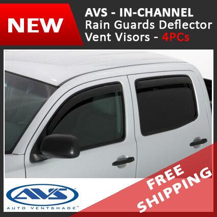 AVS IN-CHANNEL Rain Guards Window Visors fit 17-18 Nissan Titan Crew Cab