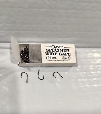 Raven Specimen Wide Gap Hooks Size #4 100 ct Box
