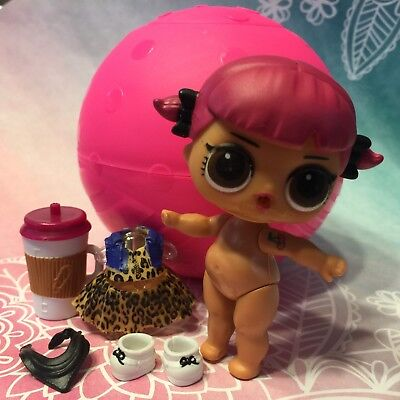 With bag LOL Surprise LiL Cherry Sis Sister Retro Club Series 2 Color Change Toy