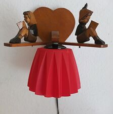 kleine Antik Wandlampe Leselampe Holz Schnitzerei Kinderzimmer Lampe