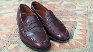 8079cf1fe56 Alden 984 Calfskin LHS Penny Loafers Burgundy Mens 10 B D USA Dress ...