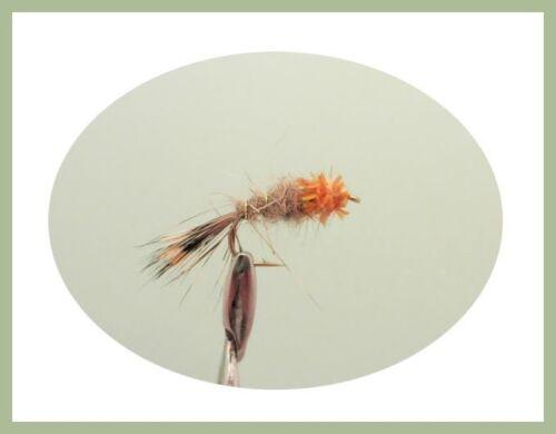 Gold Head Hares Ear Trout Flies Size 10//12 Standard /& Orange Collar 12 Pack