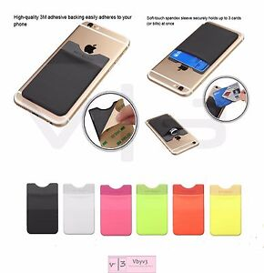 3m Adhesive Card Pouch Sticker Credit Card Holder Sleeve Cover Universal Phone Ebay