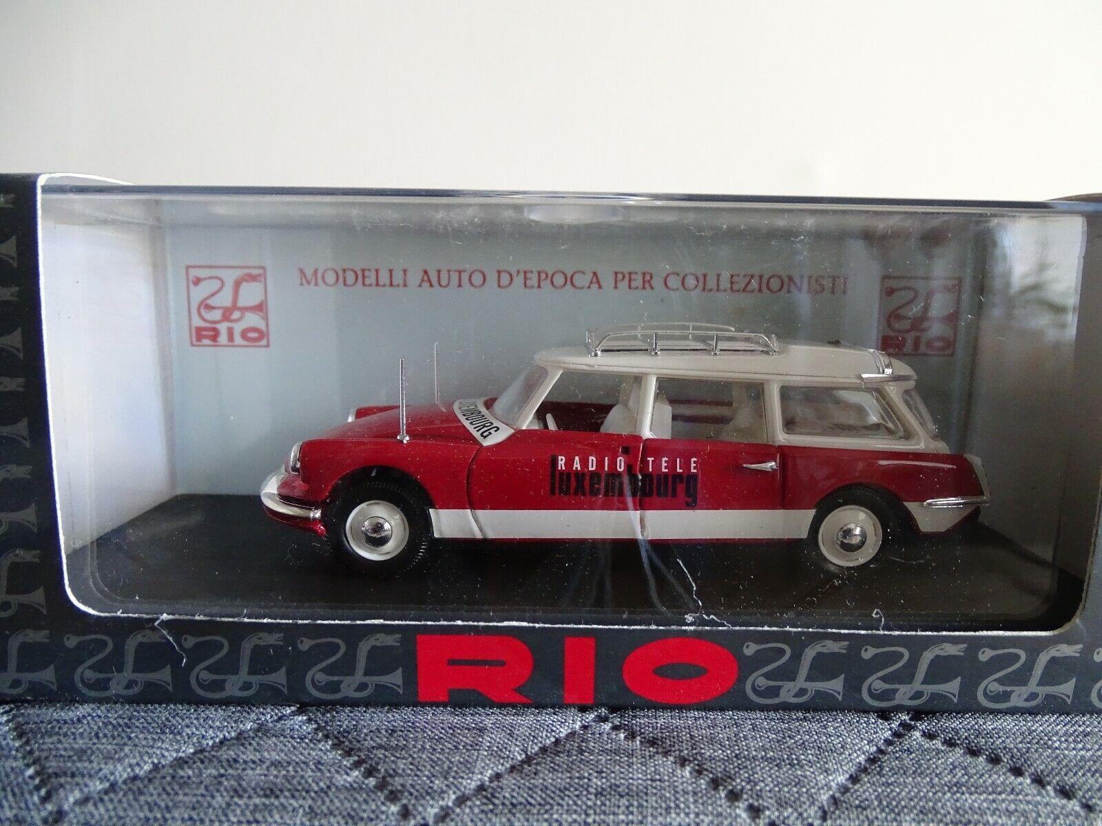 autorizzazione ufficiale 1 43 Rio  Slo44 Citroen Id Break Break Break Radio Tele Luxembourg 1960 Rosso Bianco  elementi di novità