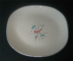 Vintage-MCM-retro-Serving-Platter-Geometric-Atomic-Starburst