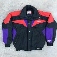 VTG Yamaha Gore-Tex Black Multicolored Color Blocked Winter Zip Up Jacket Mens M