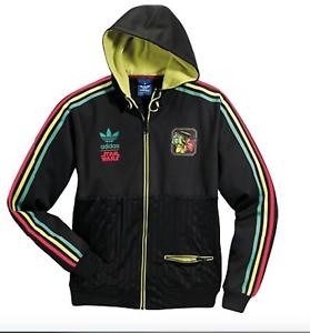 Détails sur Adidas Star Wars Rasta Sweat à capuche Boba Fett Track Top Coat Pullover Veste Noir afficher le titre d'origine