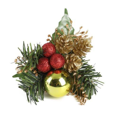 Red Berry Stems Artificial Pine Picks Christmas Tree Xmas Flower Party DIY Decor