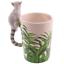 thumbnail 38 - Animal Shaped Handle Ceramic Mug Tea Coffee Cup Novelty Gift Jungle Tropical
