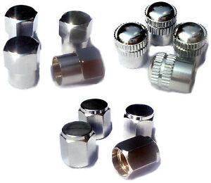 Premium-Ventilkappen-im-4er-Set-Messing-Chrom-TOP-Qualitaet-Design-Valve-Caps
