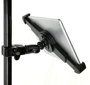 ishot g10 pro ipad pro univ tablet tripod mic music mount pipe bar pole clamp ebay. Black Bedroom Furniture Sets. Home Design Ideas