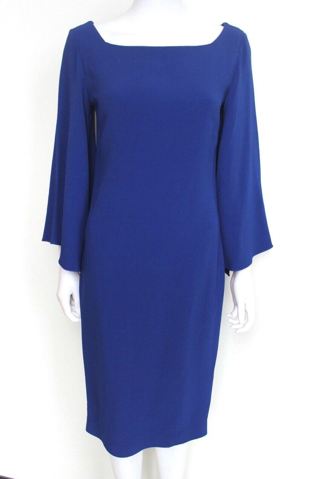 Osman Blau flute long sleeve dress