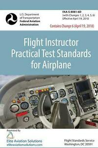Details about Flight Instructor Practical Test Standards for Airplane  (FAA-S-8081-6d) by Feder