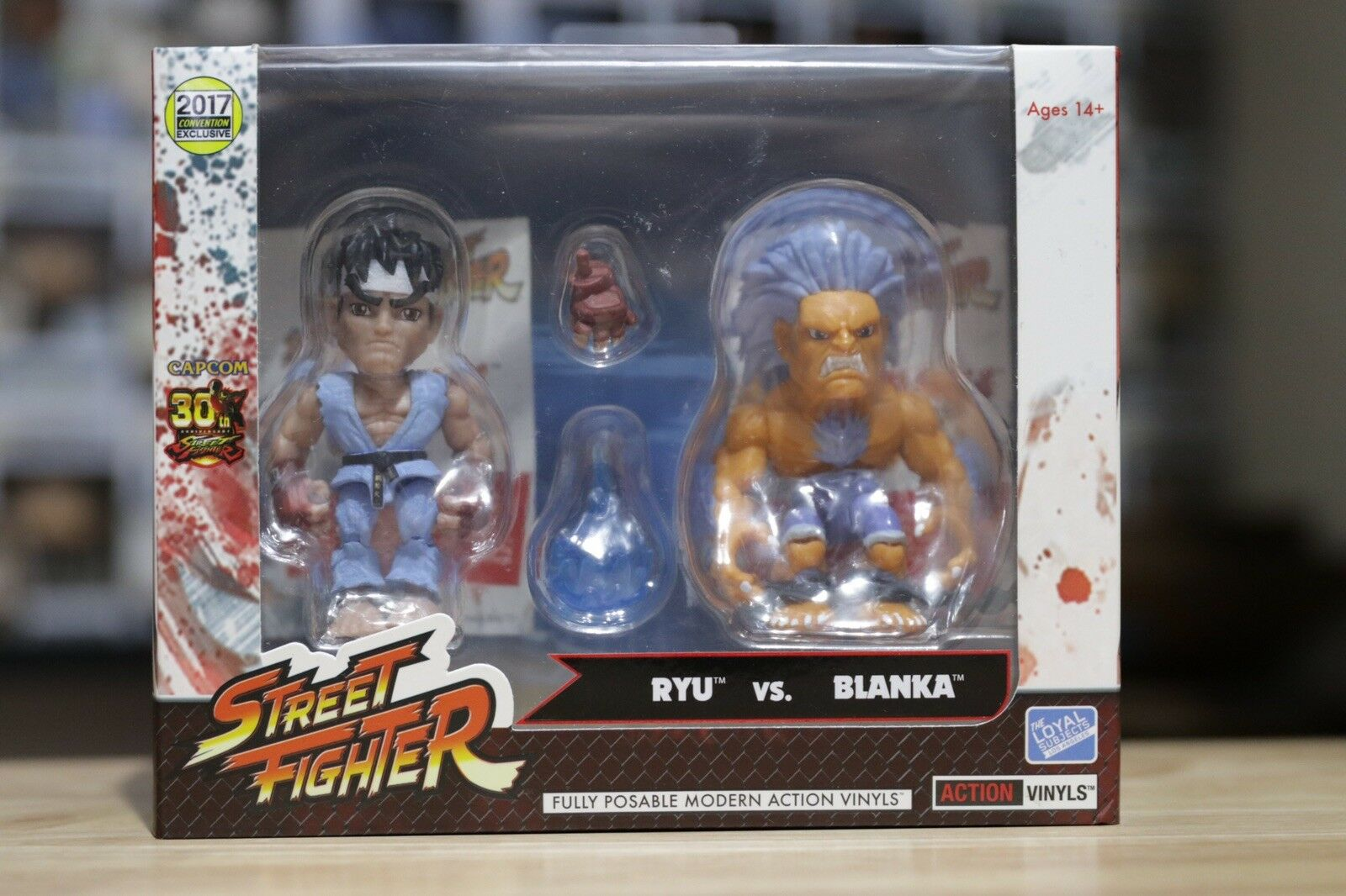 The Loyal Subjects Street combatiente 2 Pack Ryu & Blanka SDCC 2017 Exclusive