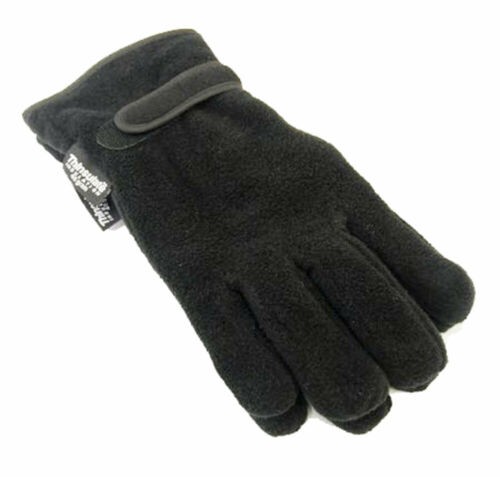 Mens Thermal Fleece Thinsulate Lined Warm Winter Glove Black