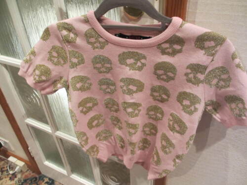 Pink amp; Short Gold Skull Sibling Size Sister Medium By Jumper txf6nH