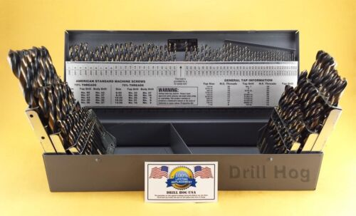 115 Pcs Drill Hog® Letter Number Drill Bit Index Molybdenum Lifetime Warranty