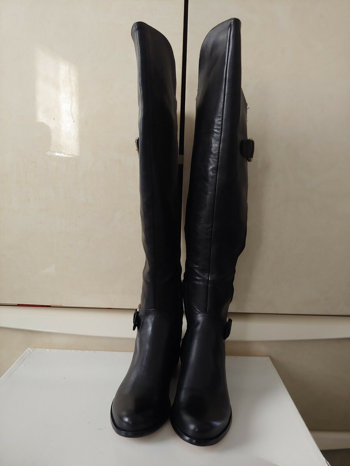Women's Corso Como Women's Splendid Black Leather Riding Boot Size 7.5 (NIB)