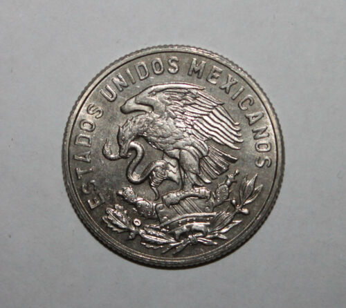 X Nice Uncirculated 1965 Mexico 50 Cincuenta Centavos Coin