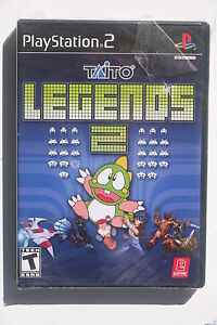 Taito-Legends-2-PS2-US-NTSC-Version-in-Like-New-and-Complete-Condition-RARE